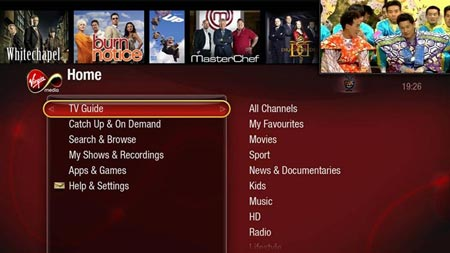 Virgin Media TiVo TV Guide