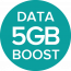 Includes EE Mobile 5GB Data Boost